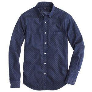 J. Crew Denim Shirt in Triple Dot
